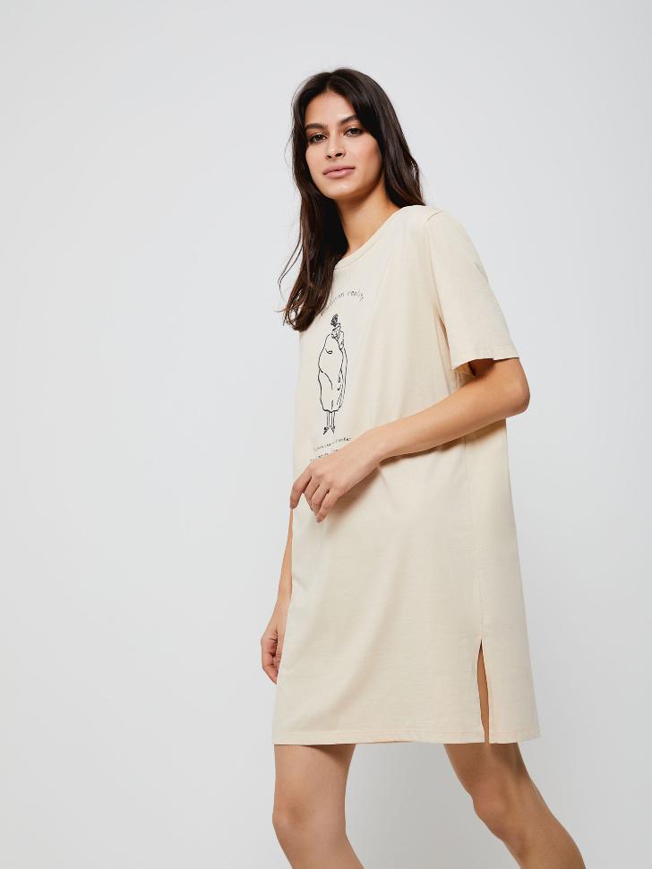 ночная сорочка женская (бежевый, L)