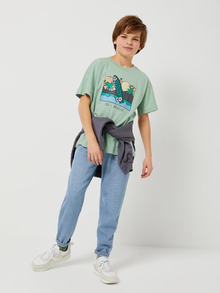 Джинсы slouchy для мальчиков (синий, 128/ 8-9 YEARS)