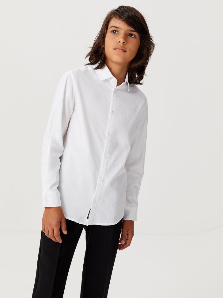 Базовая школьная рубашка для мальчиков (белый, 122/ 7-8 YEARS)