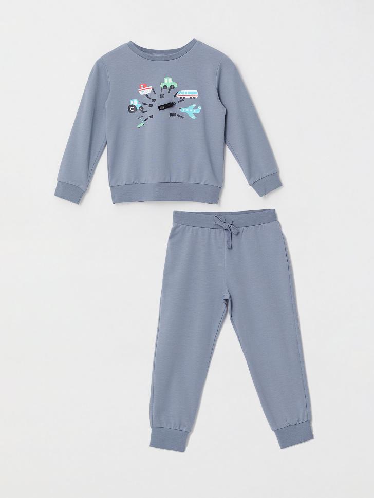 Пижама для мальчиков (серый, 116-122 (6-7 YEARS))