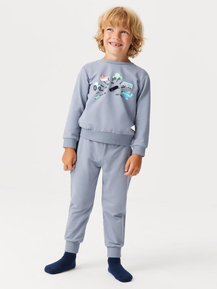 Пижама для мальчиков (серый, 104-110 (4-5 YEARS))