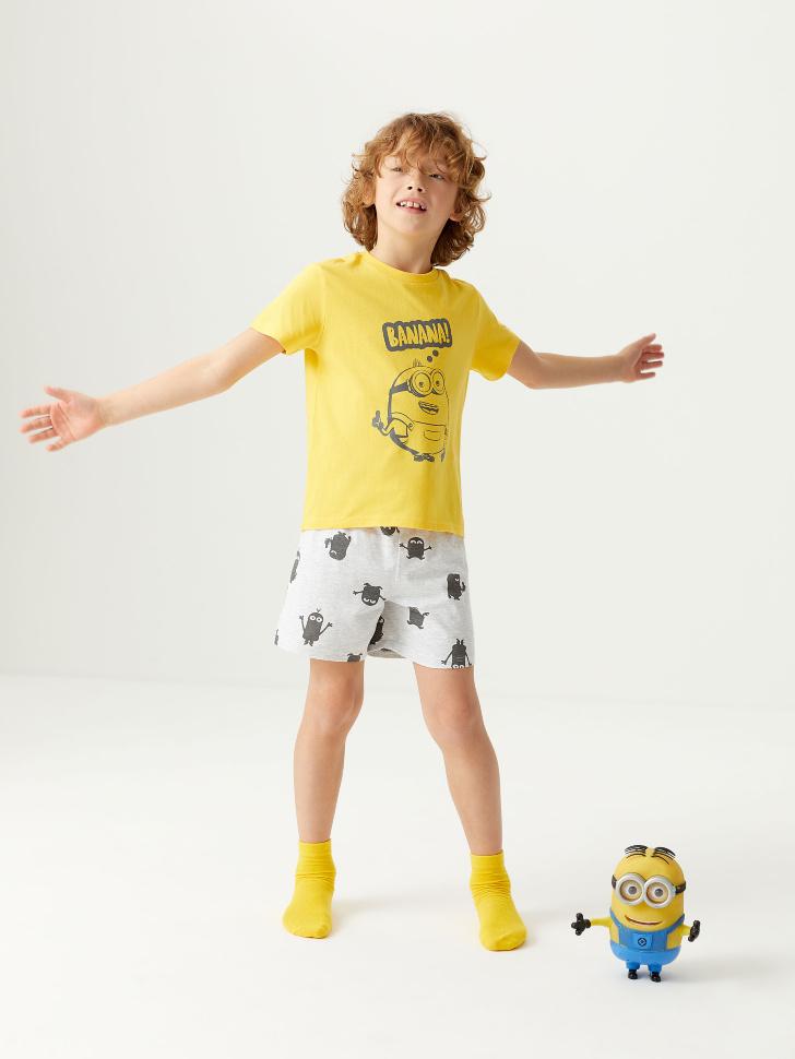 Трикотажная пижама с принтом