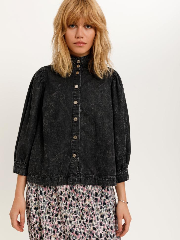 Джинсовая блузка (серый, XL)
