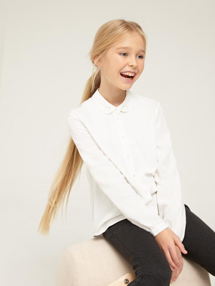 Купить со скидкой Блузка для девочек (белый, 12)