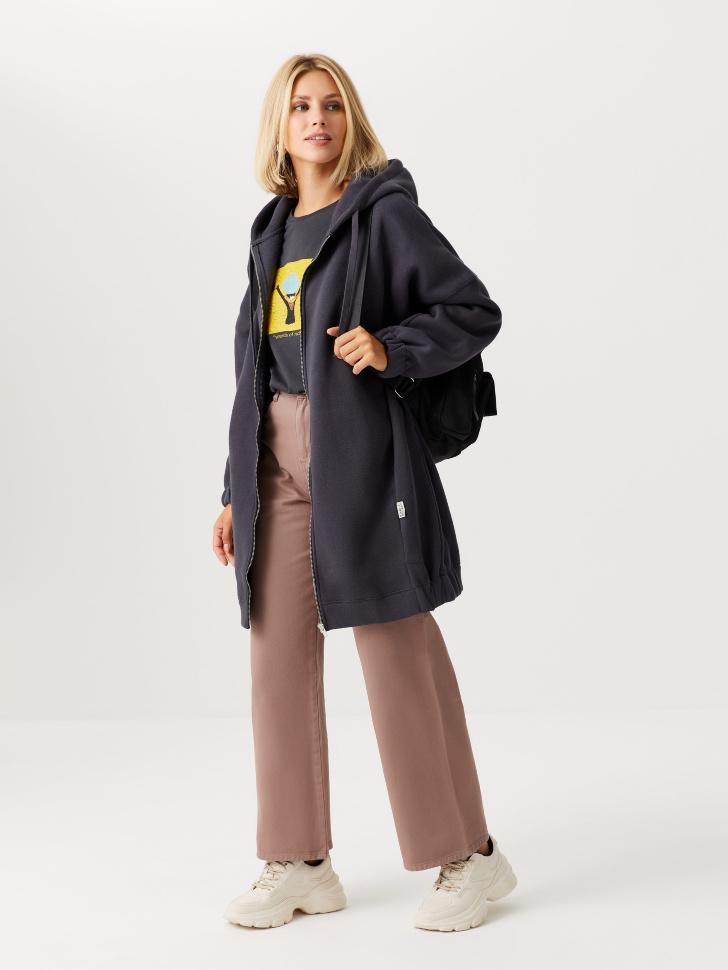 Прямые джинсы (коричневый, L)