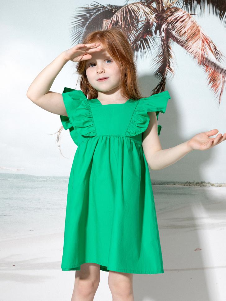 SELA платье для девочек (зеленый, 98/ 3-4 YEARS)