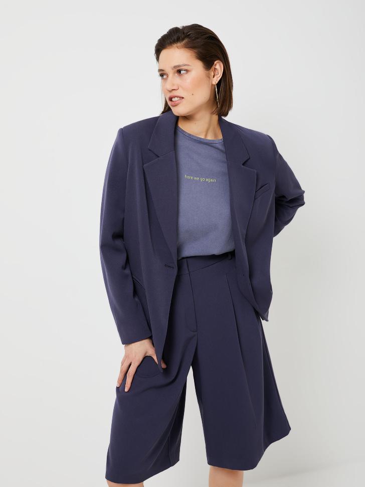 Пиджак с подплечниками (синий, S)