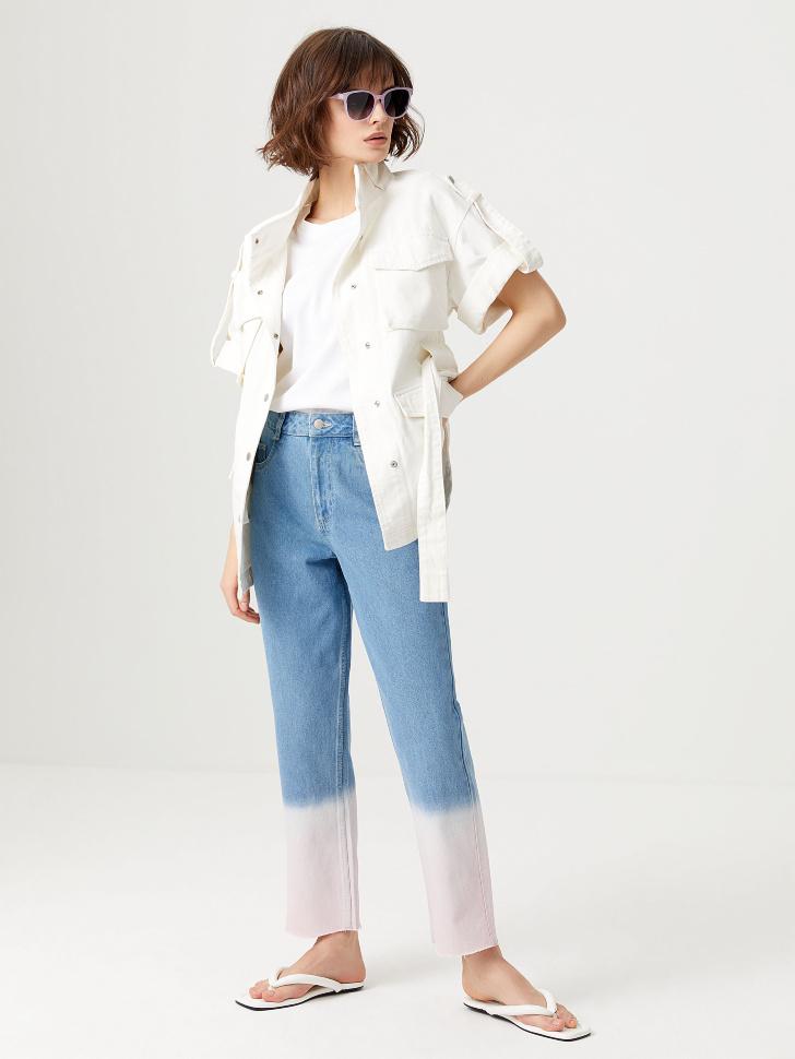 Прямые джинсы с градиентным эффектом (синий, XS)