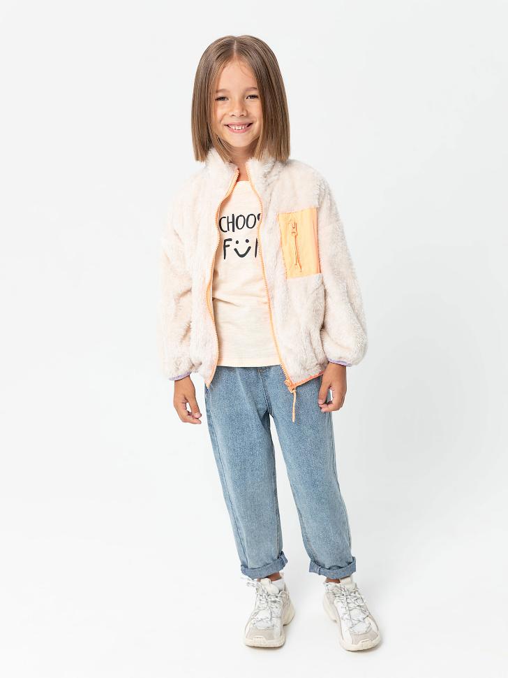 куртка для девочек (бежевый, 98/ 3-4 YEARS)