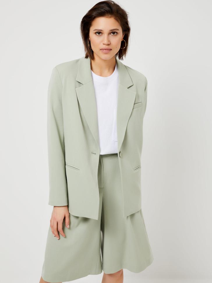 Пиджак с подплечниками (зеленый, XL)