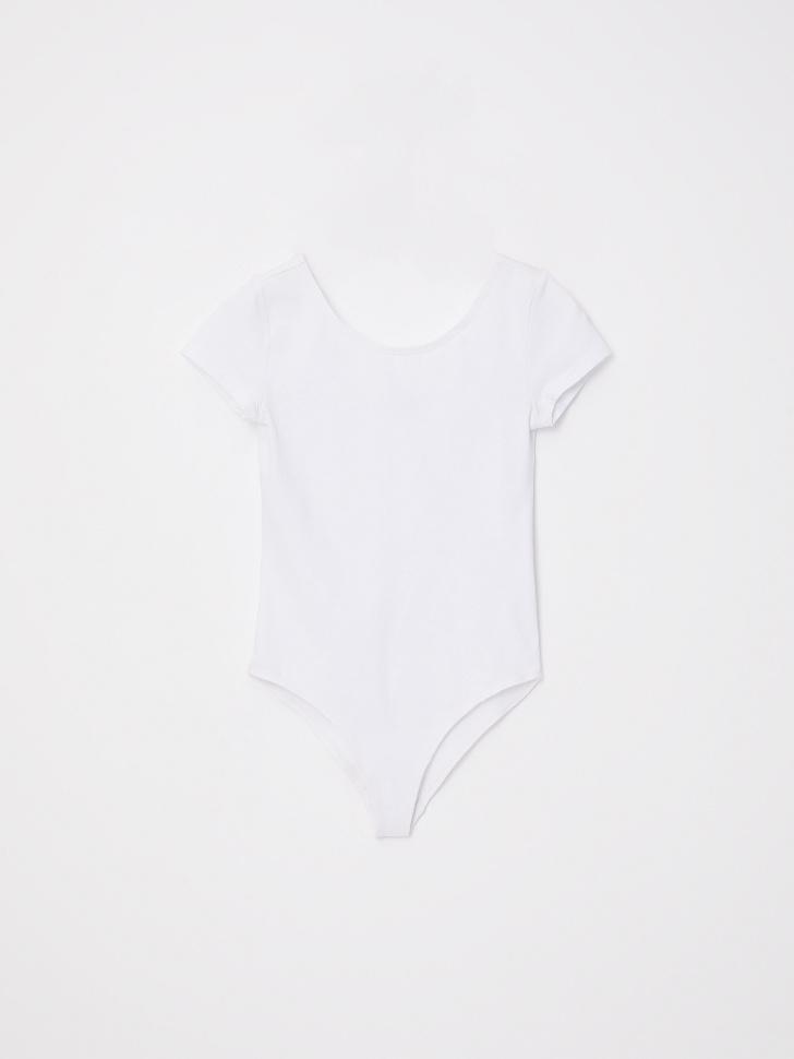 Боди с коротким рукавом для девочек (белый, 110/ 5-6 YEARS)
