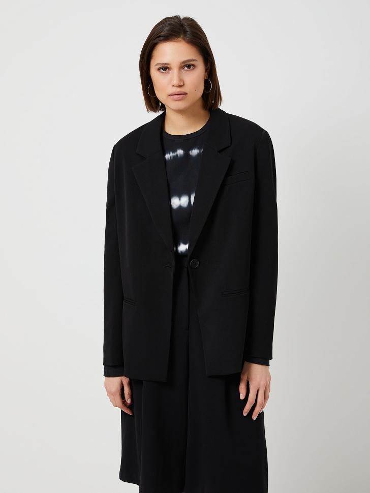 Пиджак с подплечниками (черный, S)