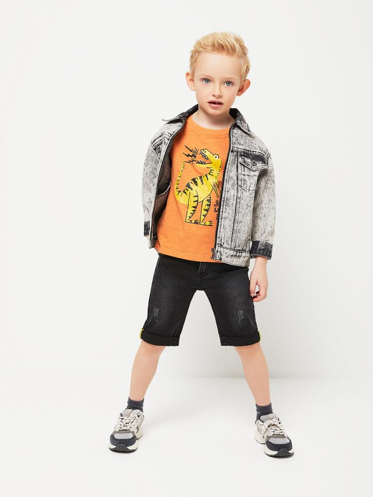 Джинсовые шорты с отворотами для мальчиков (серый, 104/ 4-5 YEARS)