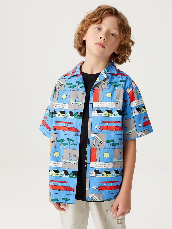 Гавайская рубашка с принтом для мальчиков (принт, 146/ 11-12 YEARS)