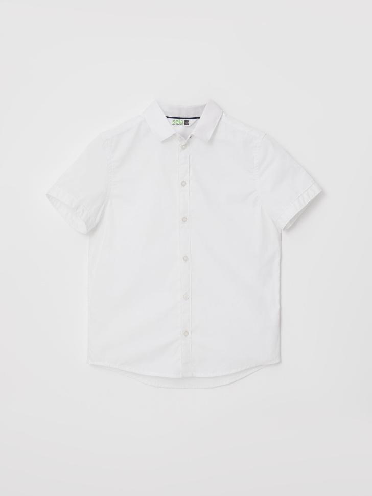 Школьная рубашка с коротким рукавом для мальчиков (белый, 158/ 13-14 YEARS)