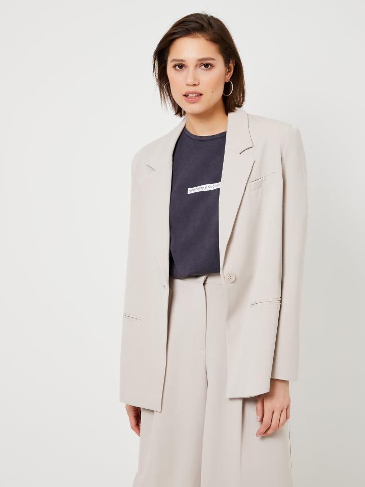 Пиджак с подплечниками (белый, XS)