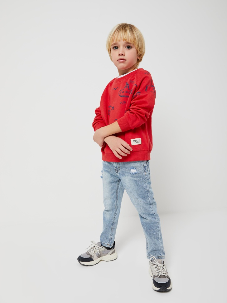 Прямые джинсы для мальчиков (синий, 110/ 5-6 YEARS)