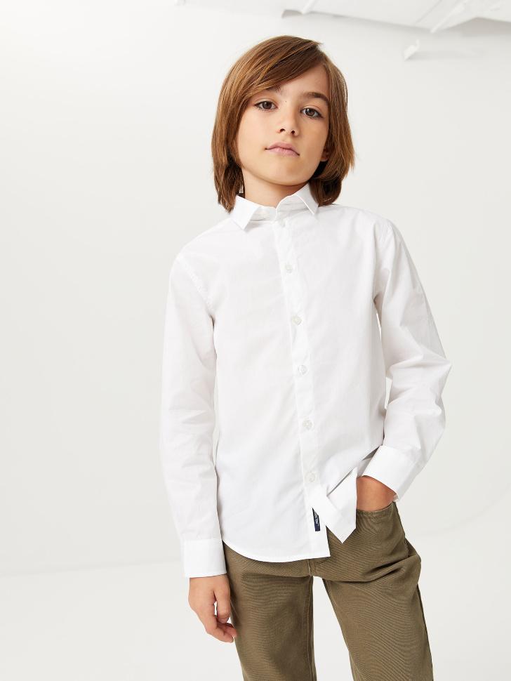 Базовая школьная рубашка для мальчиков (белый, 164/ 14-15 YEARS)