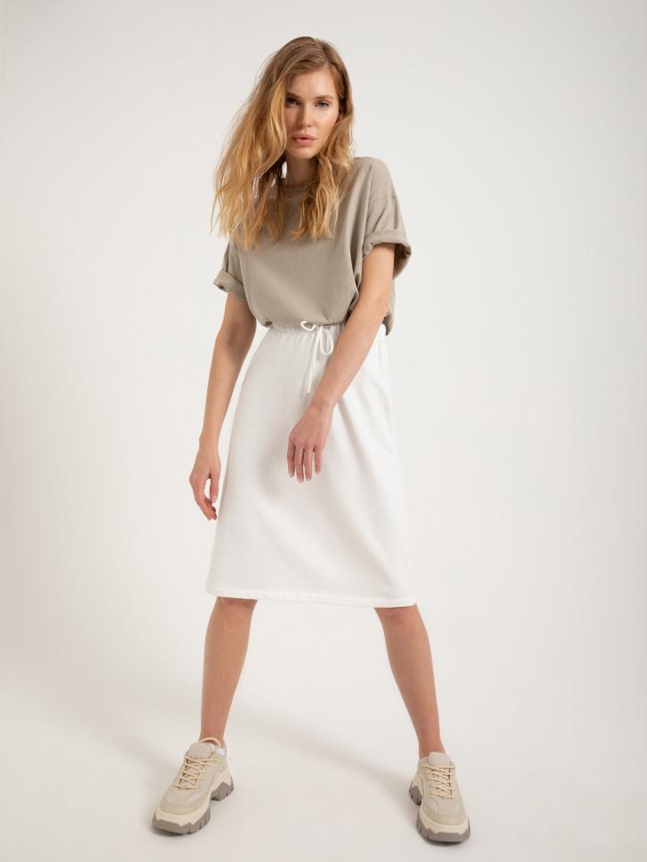 юбка трикотажная (белый, M)