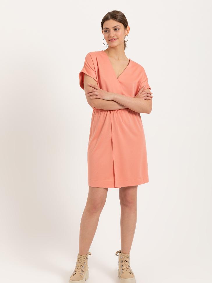 SELA Платье из модала (оранжевый, XS)