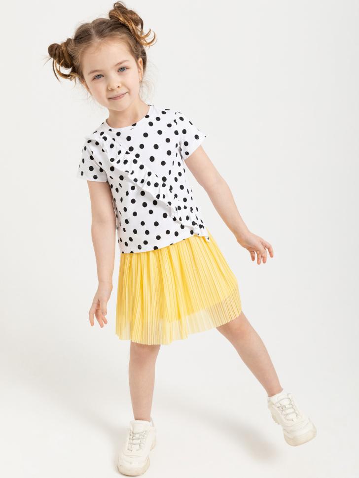 SELA Плиссированная юбка для девочек (желтый, 98/ 3-4 YEARS)