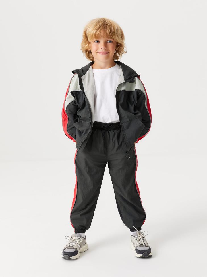 Утепленные брюки из нейлона для мальчиков (серый, 110/ 5-6 YEARS)