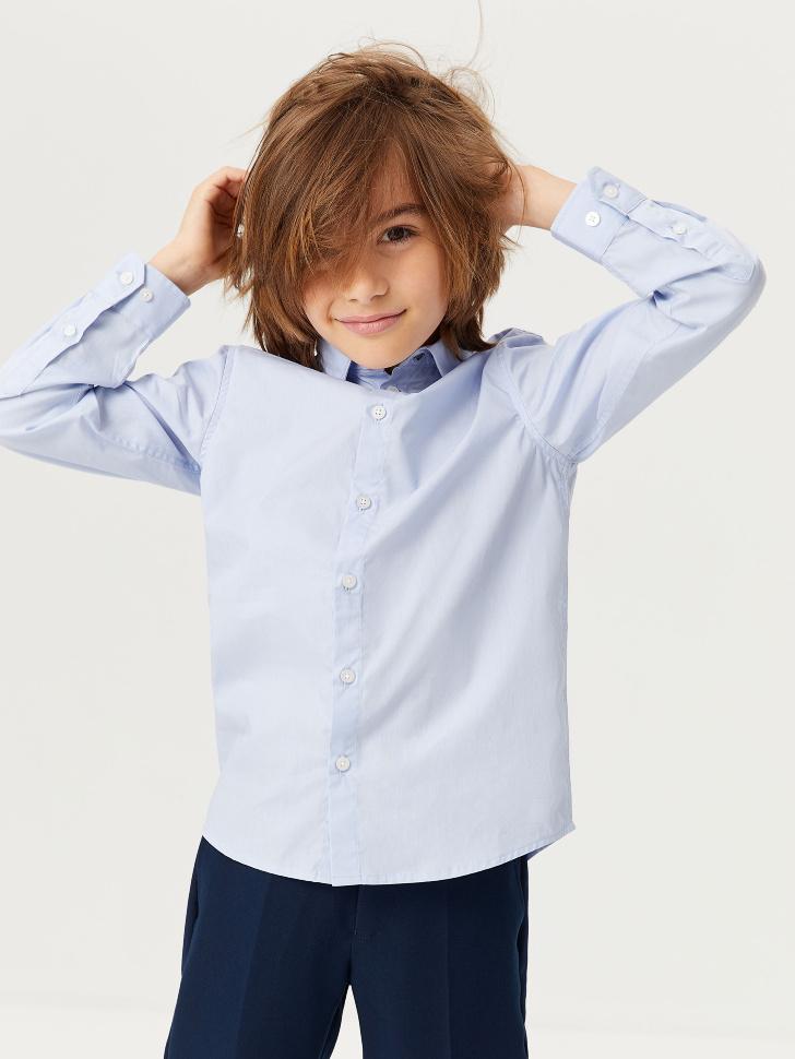 Базовая школьная рубашка для мальчиков (голубой, 152/ 12-13 YEARS)