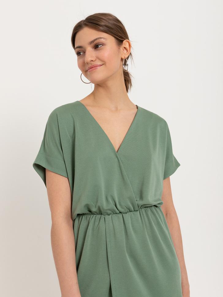 SELA Платье из модала (зеленый, XS)