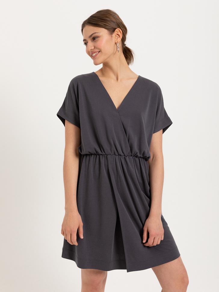 SELA Платье из модала (серый, S)