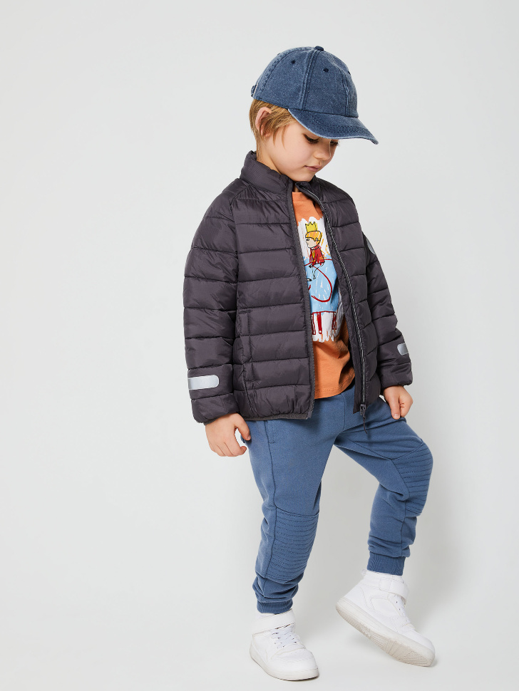 SELA Трикотажные джоггеры для мальчиков (серый, 98/ 3-4 YEARS)