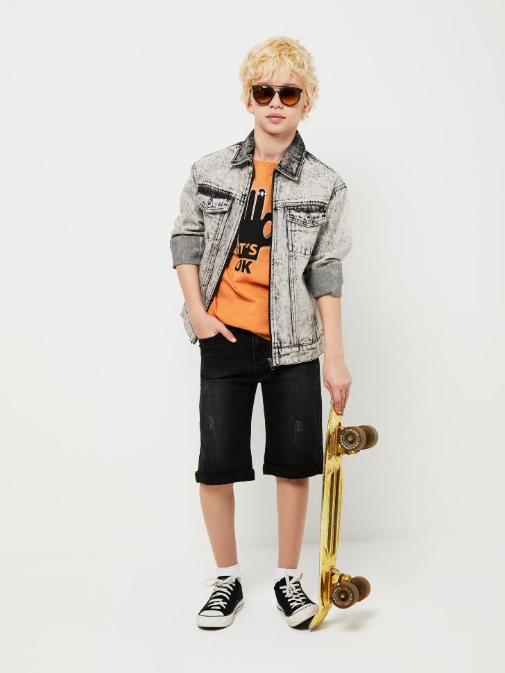 SELA Джинсовые шорты для мальчиков (серый, 146/ 11-12 YEARS)
