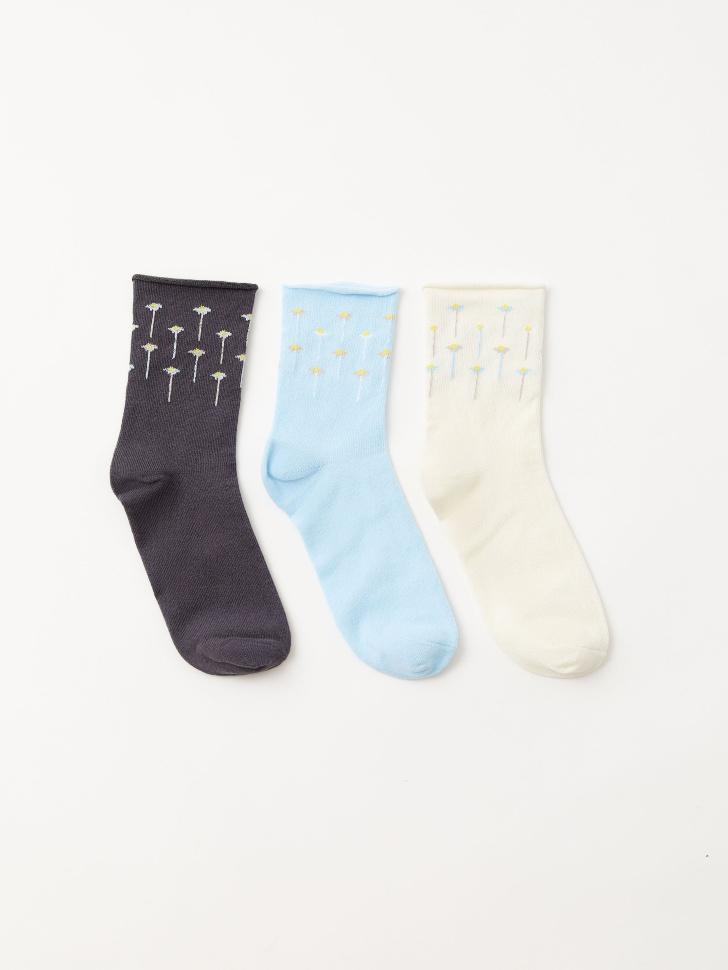 Набор из 3 пар носков (принт, 23-25)