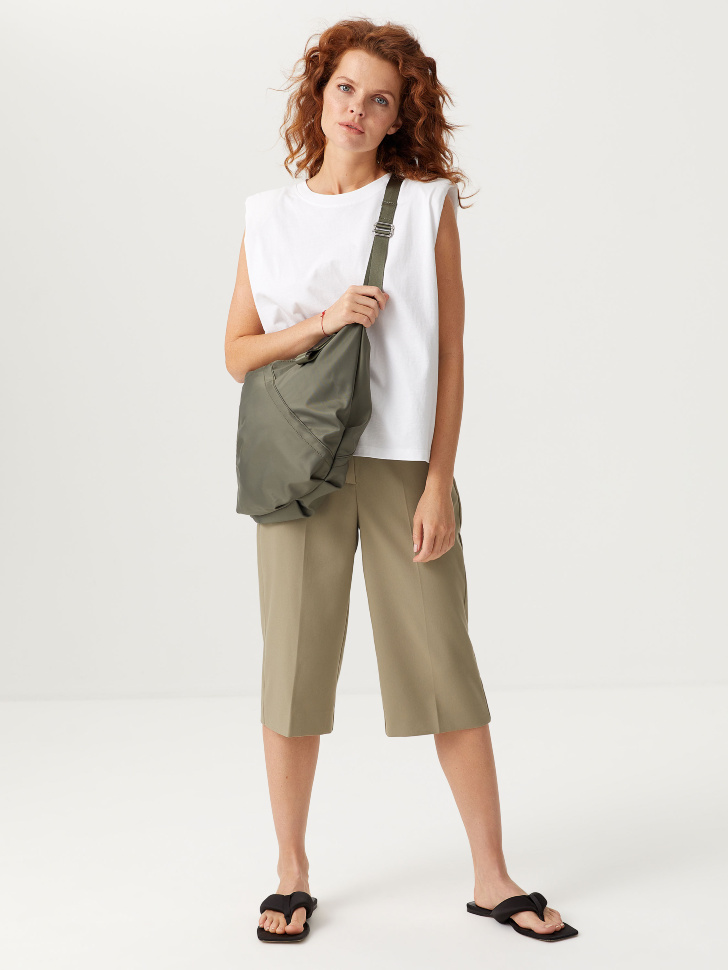 Удлиненные шорты (зеленый, S)
