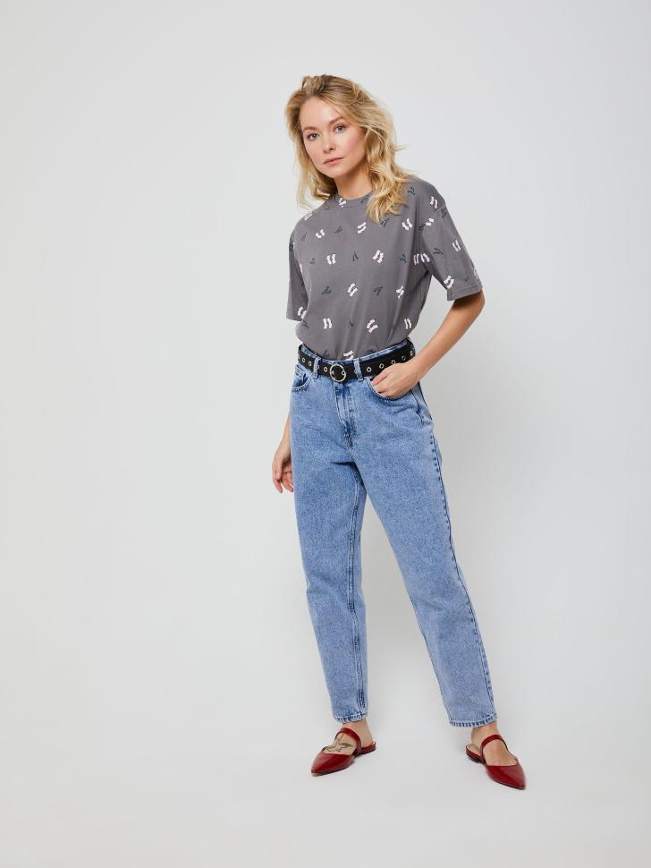 брюки джинсовые женские (синий, L)