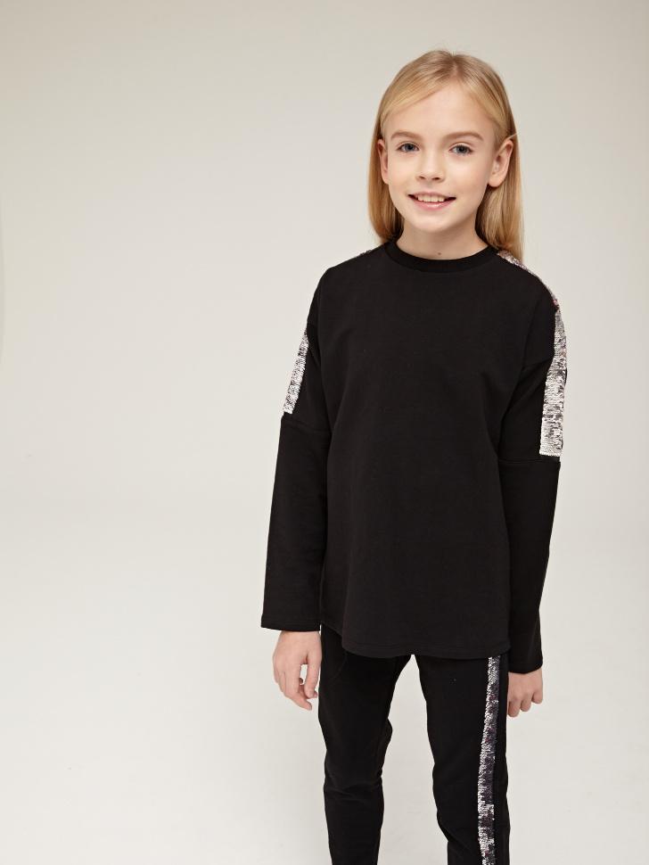 Купить со скидкой джемпер для девочек (черный, 8)