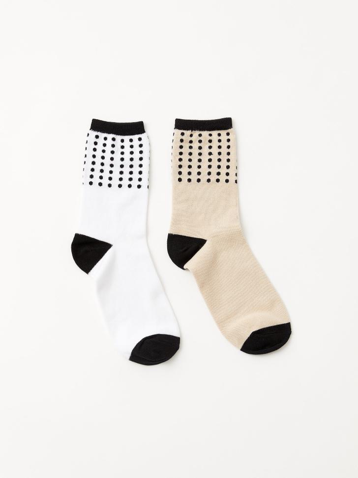 Набор из 2 пар носков (принт, 23-25)