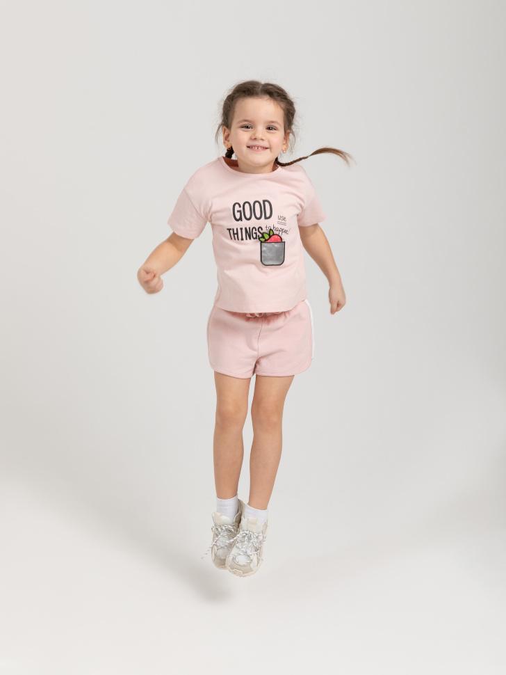 SELA Трикотажные шорты для девочек (розовый, 92/ 2-3 YEARS)