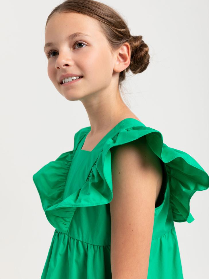 SELA платье для девочек (зеленый, 140/ 10-11 YEARS)