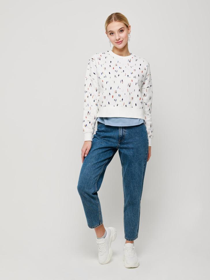брюки джинсовые женские (голубой, S)