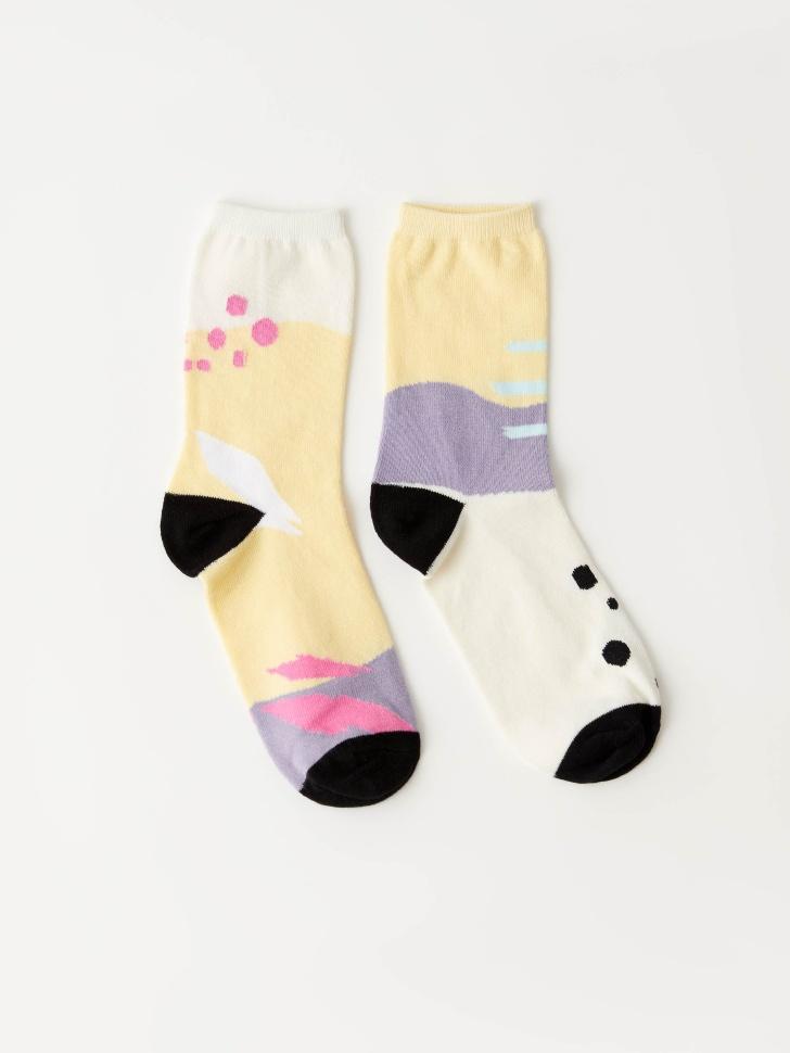 Набор из 2 пар носков (принт, 25-27)