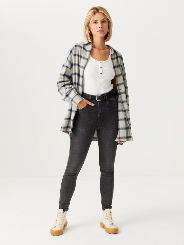 Джинсы Skinny fit (серый, XL)