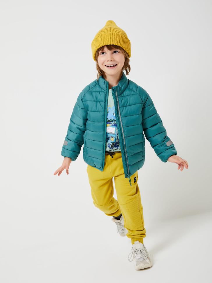 SELA Трикотажные джоггеры для мальчиков (зеленый, 98/ 3-4 YEARS)