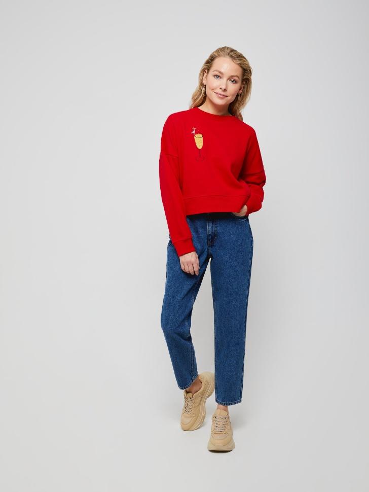 брюки джинсовые женские (синий, XXS)