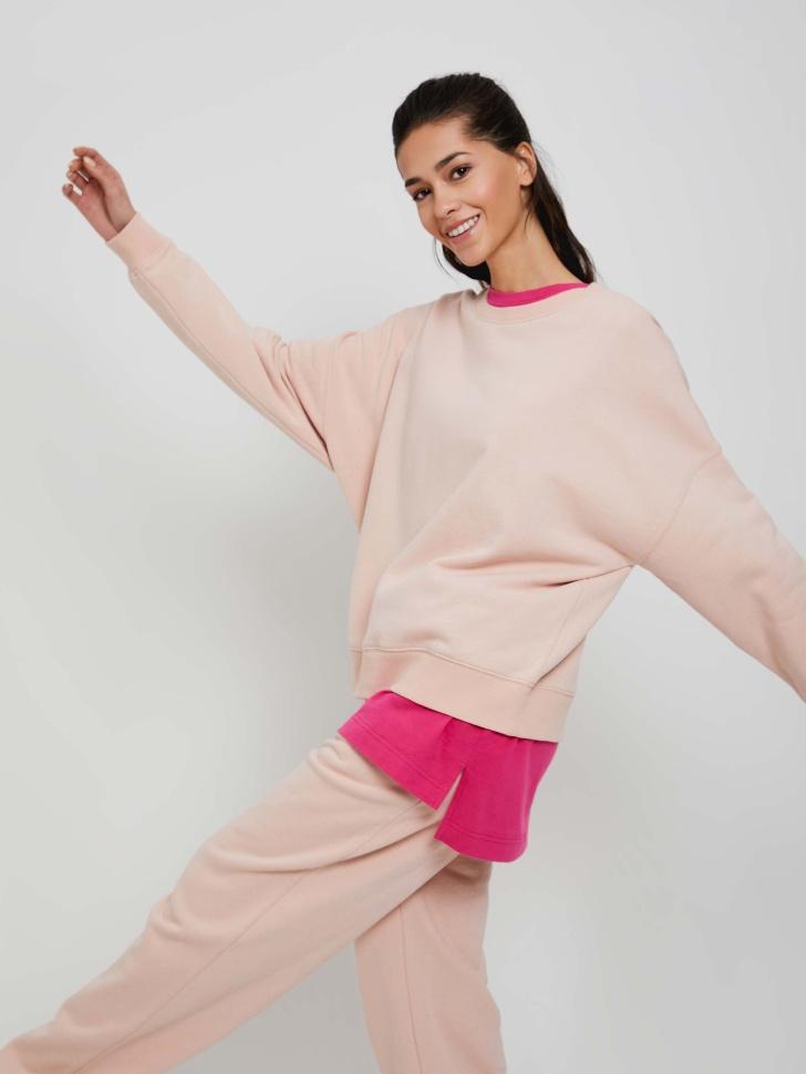 Базовый свитшот оверсайз (розовый, XL)