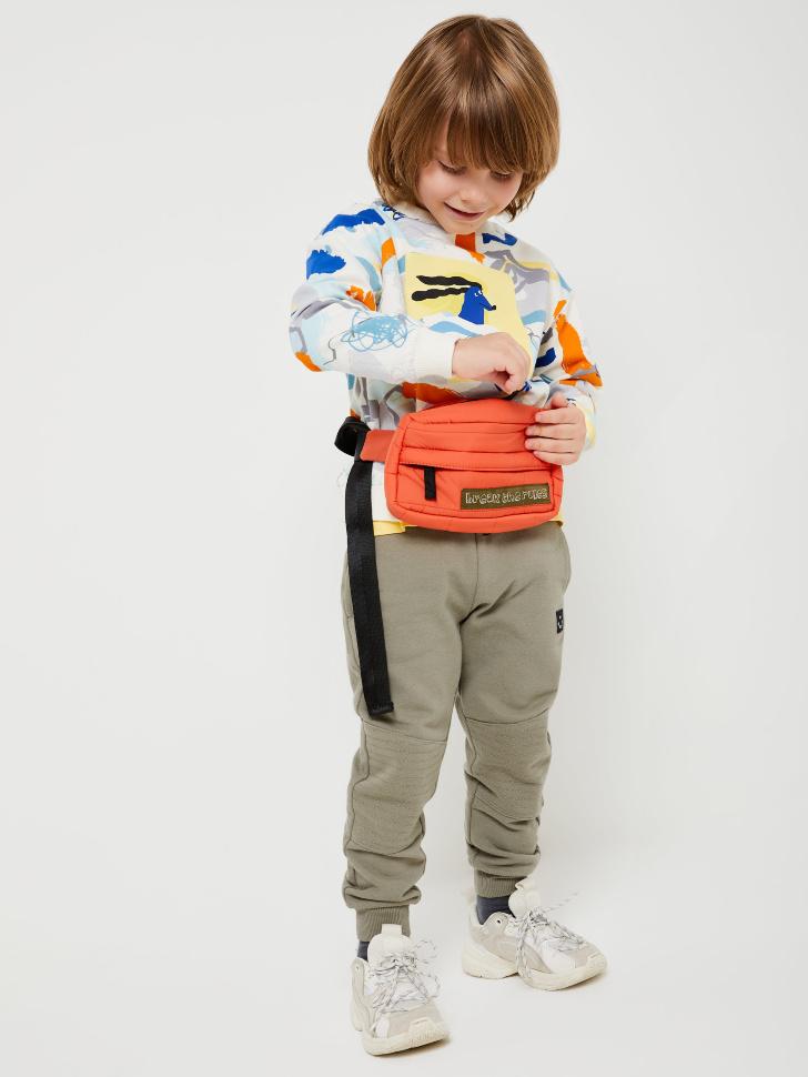 SELA Трикотажные джоггеры для мальчиков (зеленый, 104/ 4-5 YEARS)