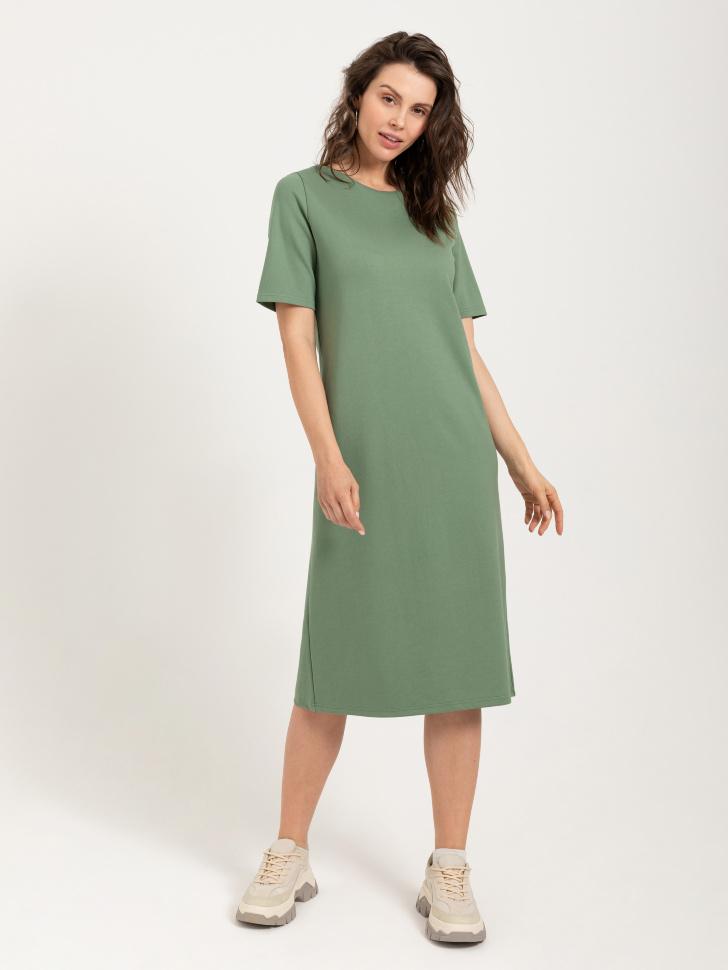 Платье-футболка (зеленый, XL)