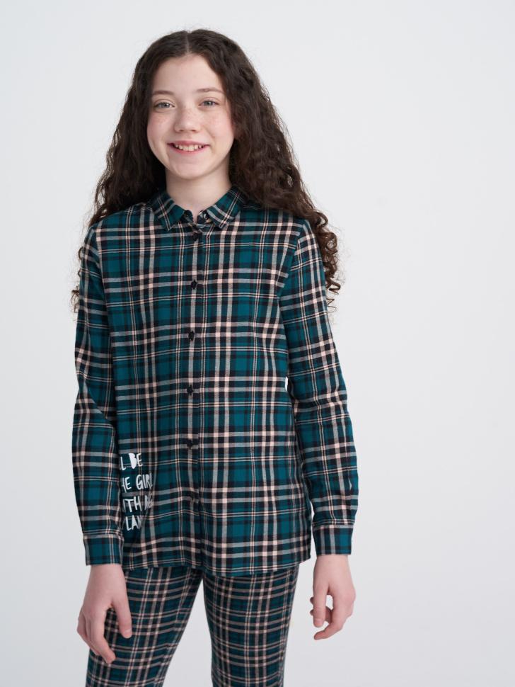 Купить со скидкой Блузка для девочки (зеленый, 13)