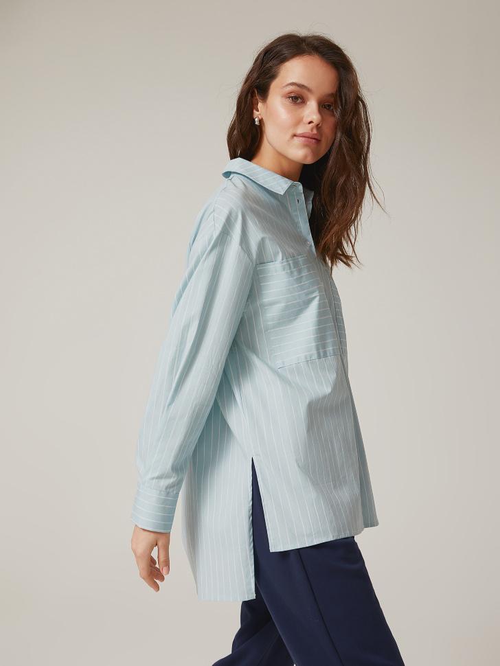 Купить со скидкой рубашка в полоску (голубой, XL)