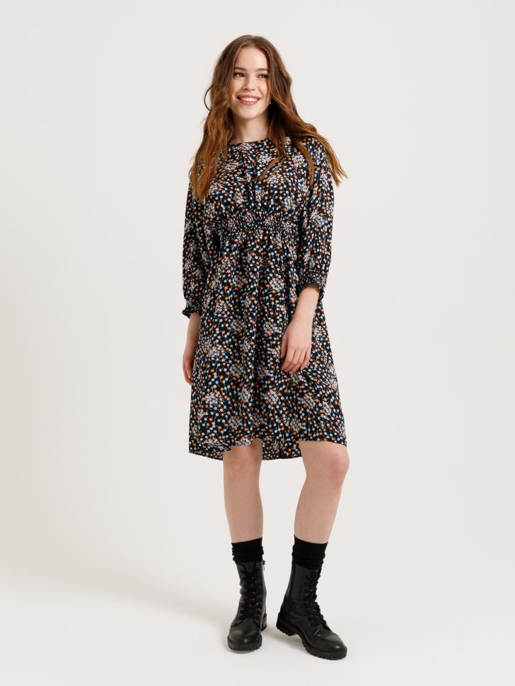 SELA платье с цветочным принтом (принт, XS)