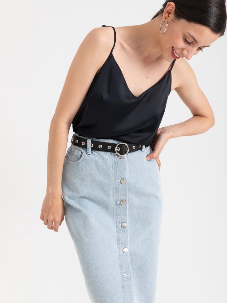 SELA блузка (топ) (черный, XS)